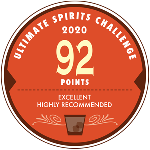 Ultimate Spirits Challenge Gold: 92 Points