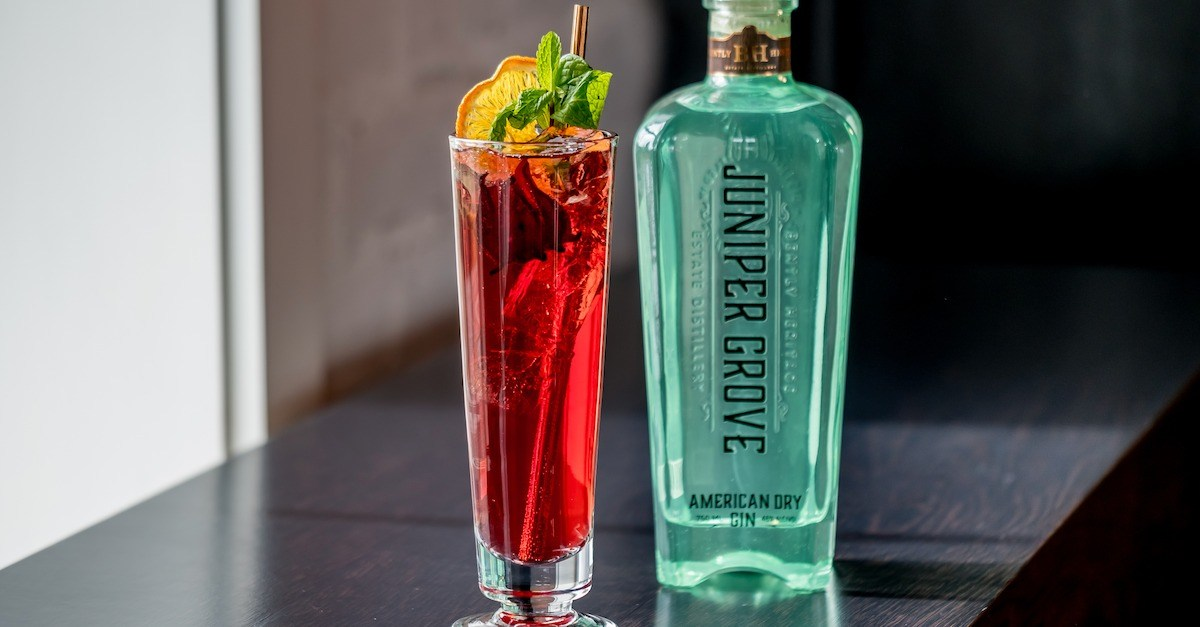 Hibiscus Gin Cocktail with Juniper Grove