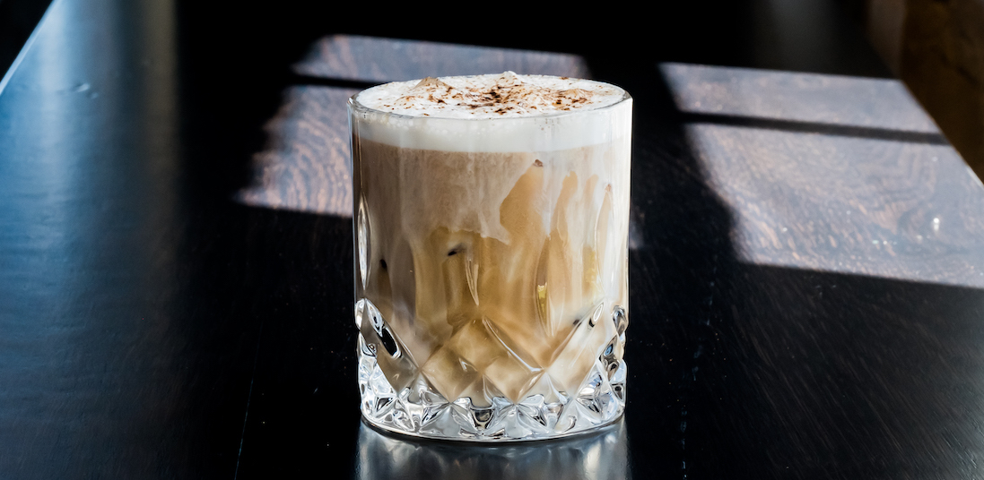 Luxury Goods cocktail made with Source One Vodka and Hecate coffee liqueur